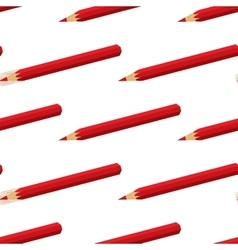 seamless pattern swatch with red pencils vector image
