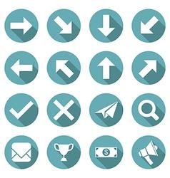 Set flat icons vector