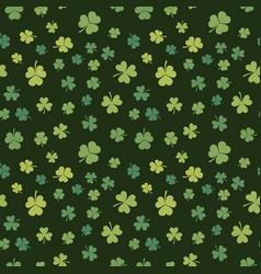 shamrock seamless pattern patricks day vector image