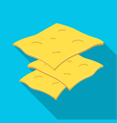slice cheese for a sandwichburgers and vector image