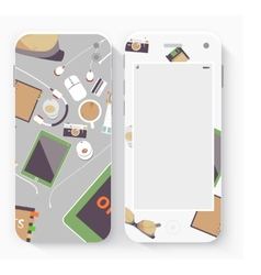 Smart Phone with Isolated Realistic vector