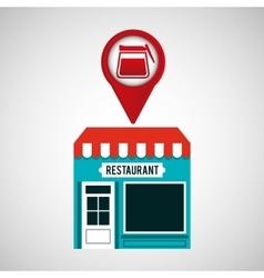 Smartphone break store app location vector