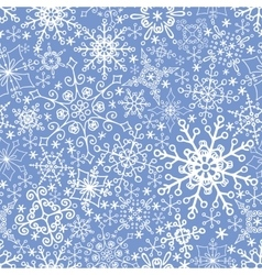 Snowflakes seamless patternwinter lacechristmas vector
