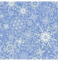 Snowflakes seamless patternwinter vector
