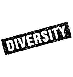 Square grunge black diversity stamp vector
