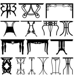 Table desk home furniture design a set unique vector