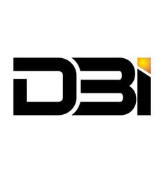 technology letter d b i vector image