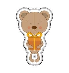 Teddy bear character icon image vector