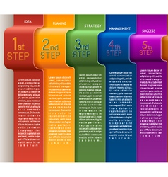 Template Five Steps vector image