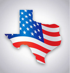 Texas tx state america flag map vector