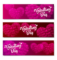 valentines day sale background set pattern vector image