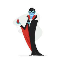 Vampire - modern cartoon people characters vector
