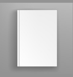 White hardcover book album mock up on grey table vector