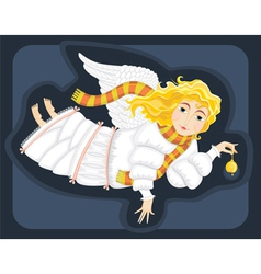 winter angel vector image