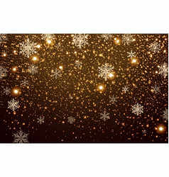 winter falling snow background vector image