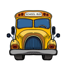 yellow school bus isolated on white vector image