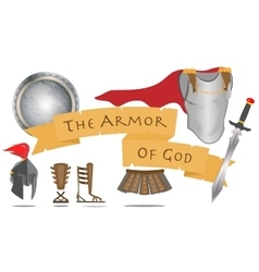 Armor of God Christianity Warrior Jesus Christ vector image