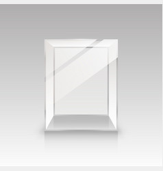 glass box on a white background vector image