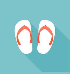 sandal icon vector image vector image