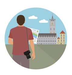 Tourist vector image vector image