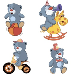 A set of bears cartoon vector image vector image