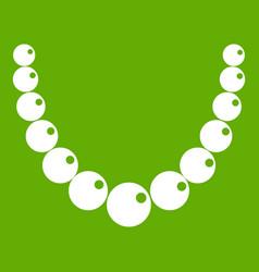 bead icon green vector image
