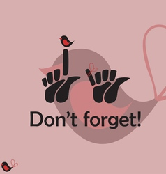 Dont Forget Icons vector image