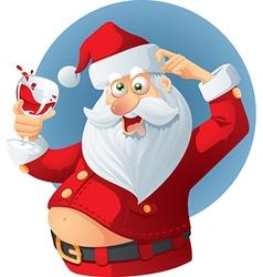 Drunk Santa Claus Cartoon vector image vector image