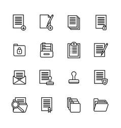 folders thin line icon set vector image