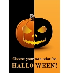 Poster choose your own color for Halloween vector image vector image