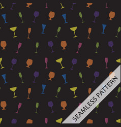 seamless pattern c in glasses of different shapes vector image vector image