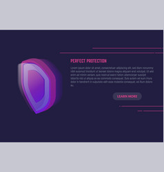 shield protection banner vector image