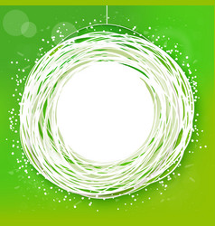 sketched sunny green abstract label vector image vector image