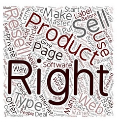 How To Make Money With Resell Rights text vector image vector image