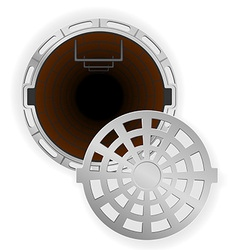 manhole 07 vector image vector image