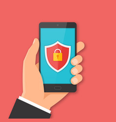 mobile security concept vector image