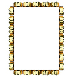 Opened books Frame vector image vector image