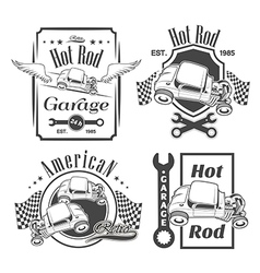 set hot rod vector image