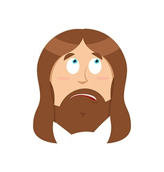 Surprised Jesus Christ perplexed Gods son vector image vector image