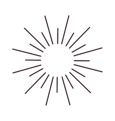 Abstract bursting rays sun lines vector image