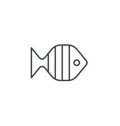aquarium fish goldfish thin line icon linear vector image