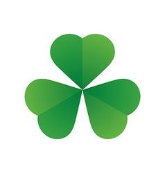 happy saint patricks day shamrock leaf isolated vector image vector image