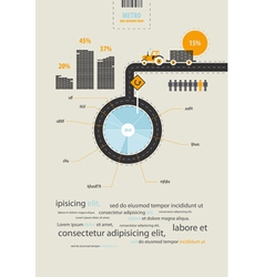 infographics circuit supplies load on the tractor vector image