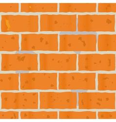 red bricks wall seamless vector image vector image
