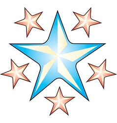 Star Tattoo Art vector image vector image