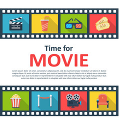 time for movie copyspace poster vector image vector image