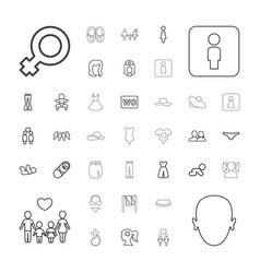 37 girl icons vector