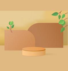 3d rendering with podium vector