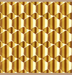 abstract honeycomb with gold effect seamless vector image