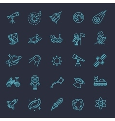 Astronomy astrology and space icons vector